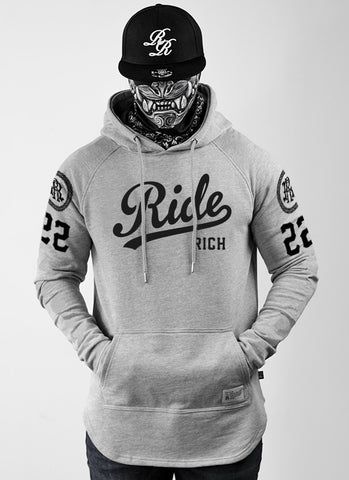 RR Squad Scoop Pullover Hoodie {Heather Grey}