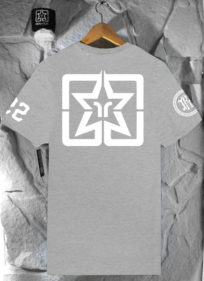 RR Squad Tee {White on Athletic Heather}