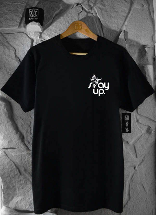 RR Stay Up Tee View 2 - Motorcycle T-shirt
