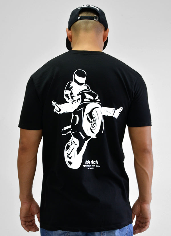 RR Stay Up Tee View 3 - Motorcycle T-shirt