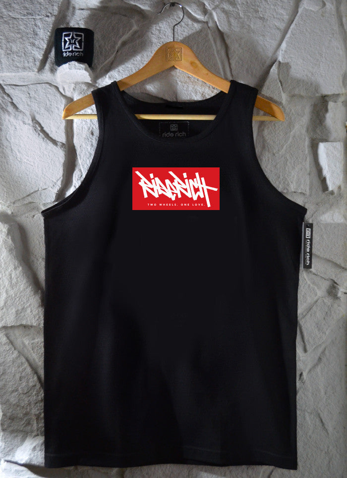 Ride Rich Tag Tank View 1 - Motorcycle Tank Top