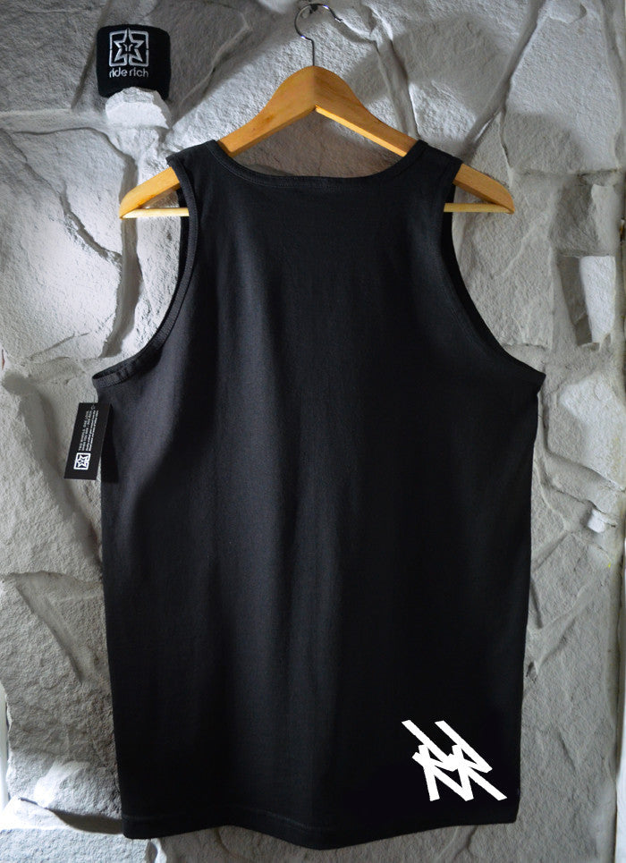 Ride Rich Tag Tank View 2 - Motorcycle Tank Top