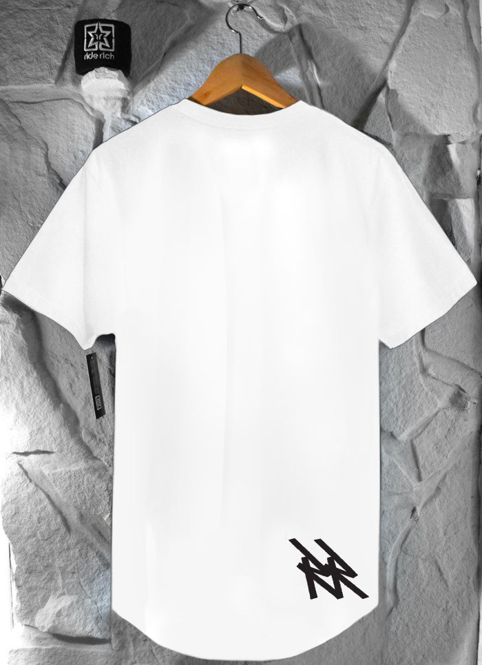 RR Tag Scoop Tee {White}