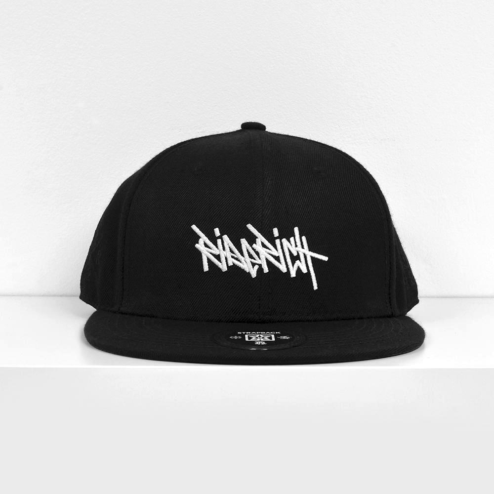 RR Tag White on Black Strapback View 2 - Motorcycle Hat