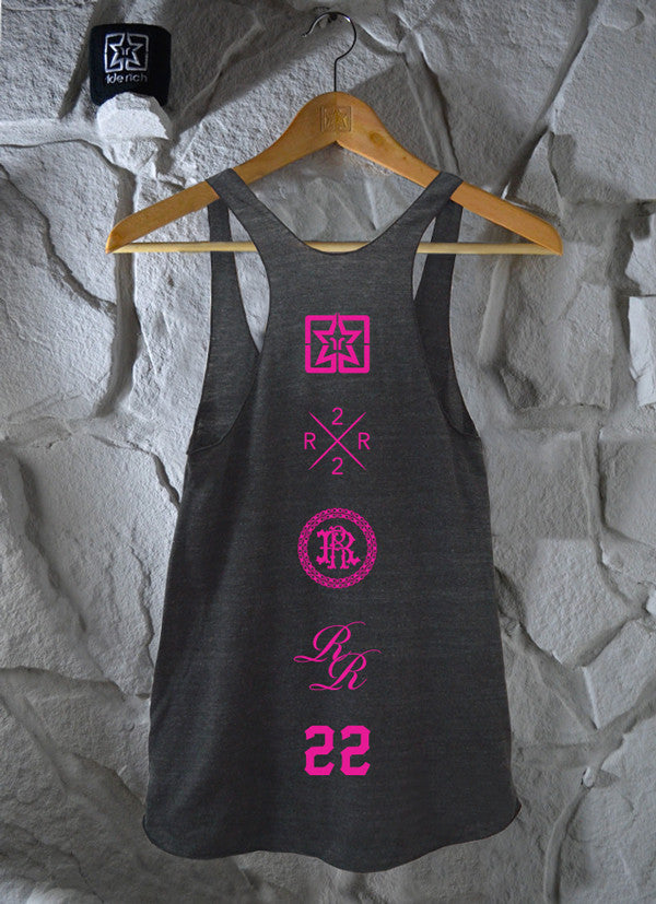 Too Fast Racerback Tank {Charcoal Grey}