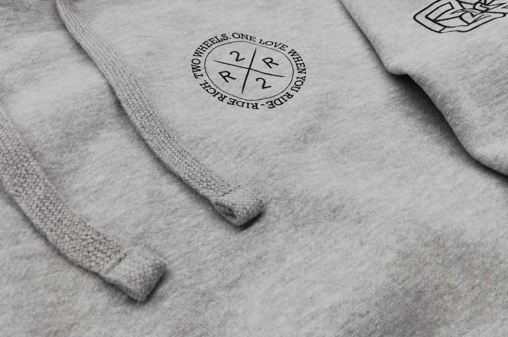 The Motto Pullover Hoodie {Heather Grey}