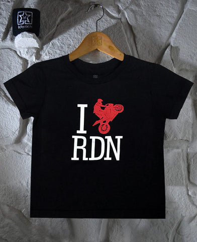 I Love Ridin Toddler Tee View 1 - Motorcycle Baby Clothing