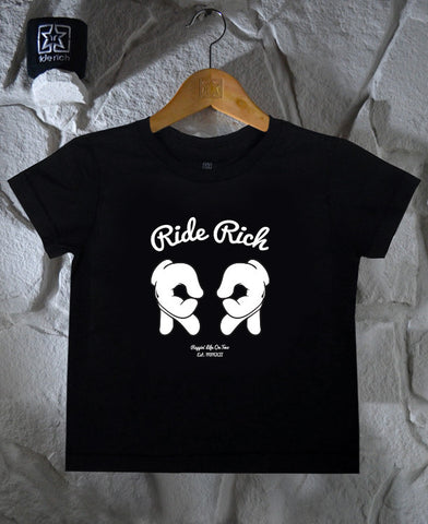 Rep Life On Two Toddler Tee View 1 - Motorcycle Baby Clothing