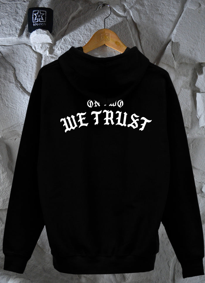 On Two We Trust Pullover Hoodie {Black}