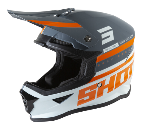 CASQUE CROSS SHOT FURIOUS SHINING GRIS ORANGE