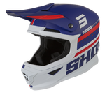 CASQUE CROSS SHOT FURIOUS SHINING BLEU ROUGE