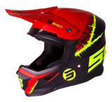 CASQUE CROSS SHOT FURIOUS STORM NOIR ROUGE JAUNE MAT