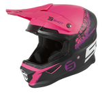 CASQUE CROSS SHOT FURIOUS STORM NOIR ROSE MAT
