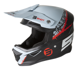 CASQUE CROSS SHOT FURIOUS STORM NOIR GRIS ROUGE MAT