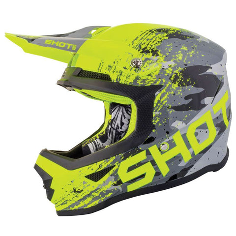 CASQUE CROSS SHOT FURIOUS COUNTER JAUNE GRIS
