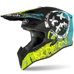 CASQUE CROSS AIROH WRAAP SMILE JAUNE MAT
