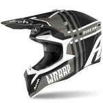 CASQUE CROSS AIROH WRAAP BROKEN GRIS MAT