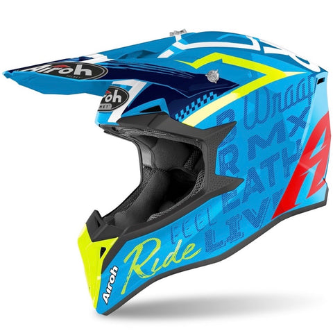 CASQUE CROSS AIROH WRAAP STREET AZUR BRILLANT