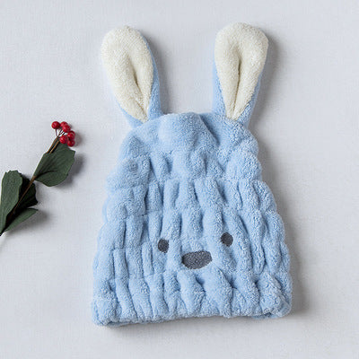 iLoveSIA Hair Quick Drying Hat Towel Microfiber Cartoon Rabbit Ears - iLoveSIA