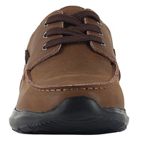 OUTDOOWALS Men's Comfortable Lightweight Leather Band Casual Shoes B2