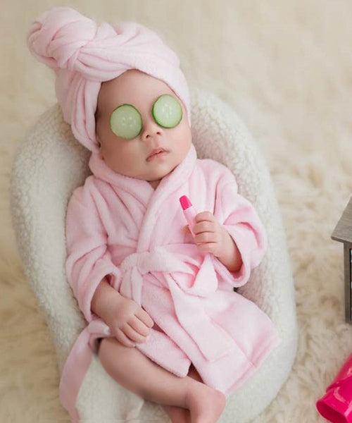 iLoveSIA Newborn Monthly Baby Photo Props Bathrobes with Towel Sets - iLoveSIA