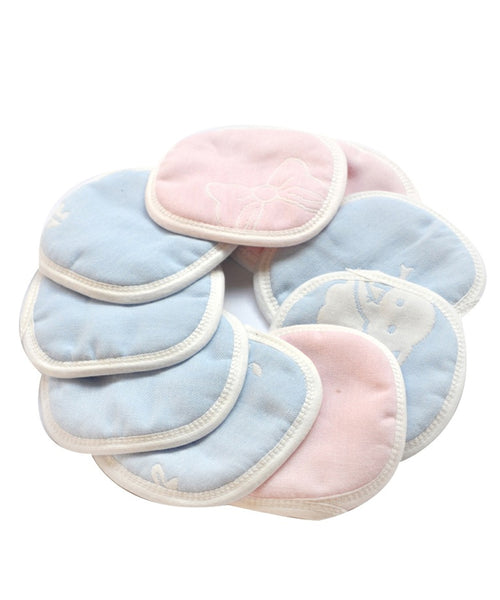 iLoveSIA Cotton Washable Reusable Nursing Pads, Assorted, 10-Count - iLoveSIA