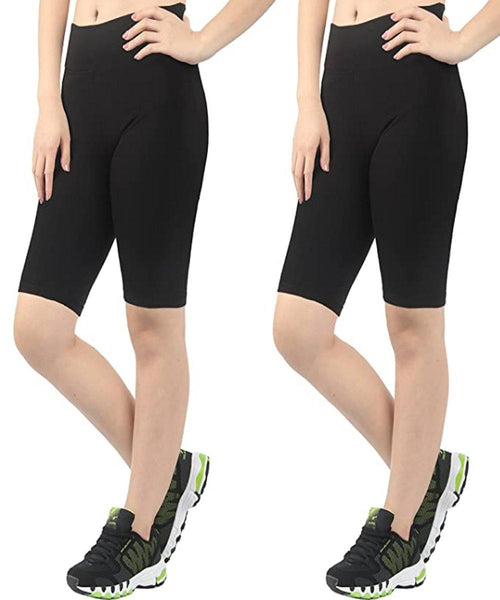 iLoveSIA 2-Pack Women's Yoga Shorts Leggings Cotton sport Half Tights - iLoveSIA