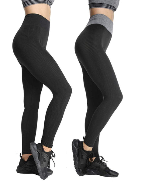iLoveSIA 2-Pack Women's Seamless Workout Yoga Leggings High Waist - iLoveSIA