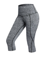 iLoveSIA Womens Capri Tight with Side Pocket Yoga Pants Gym Pants - iLoveSIA