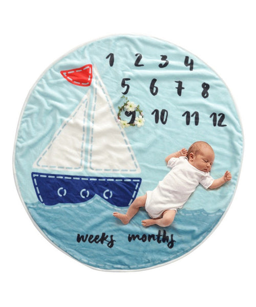 iLoveSIA Milestone Blanket for Baby Boy and Girl Round Pictures - iLoveSIA