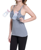 iLoveSIA Hands Free Pumping Tank | Patented All-in-One Pumping & Nursing Tank Top with EasyClip - iLoveSIA