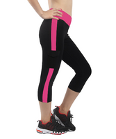 iloveSIA Women's Color Block Yoga Leggings with Pocket Athletic Pants YP1084 21""