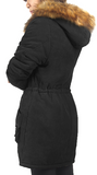 iLoveSIA Women's Winter Thickened Warm Sherpa Lined Hooded Cotton Jacket - iLoveSIA