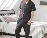 iLoveSIA Men's Cotton Short Leeve Sleepwear Cotton Pajamas Set - iLoveSIA
