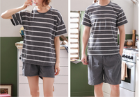 iLoveSIA Men's Pajama Set Soft Cotton Short Sleeve Summer Sleepwear - iLoveSIA