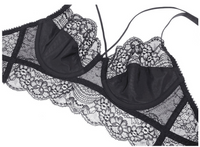 iLoveSIA Women Underwire Bra and Panty Lace Soft Cotton Cup Lingerie - iLoveSIA