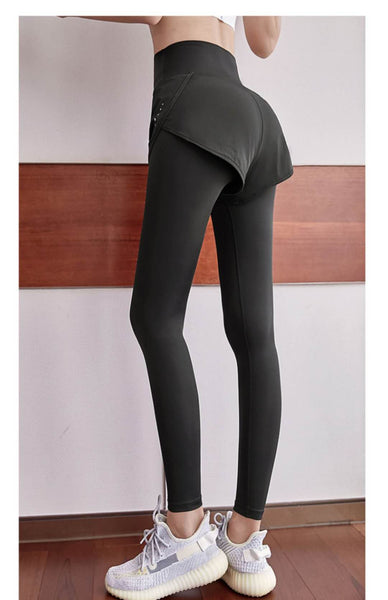 Sexy Leggings High-Waisted Lift Hip Stretch Tight Belly Tight Running Autumn Quick-Dry Sports Pants - iLoveSIA
