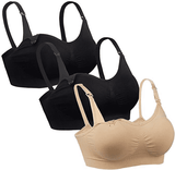 iLoveSIA 3PACK Seamless Convertible Clip Down Maternity and Nursing Bra
