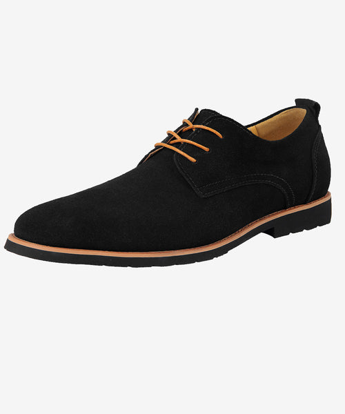 iLoveSIA Men's Suede Leather Oxford Shoes Lace up Oxfords Dress Shoe - iLoveSIA