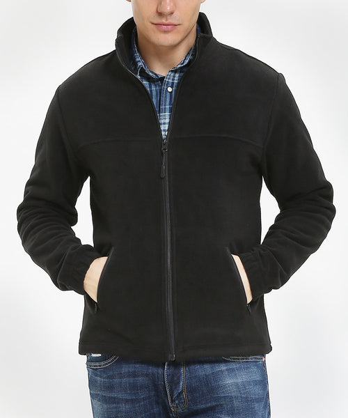 iLoveSIA Men Windproof Shell Fleece Lined Lightweight Jacket - iLoveSIA
