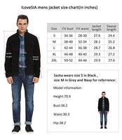 iLoveSIA Fleece Full Zip Front Jackets for Men Casual Windproof Lightweight Jacket Size Chart