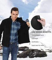 iLoveSIA Fleece Full Zip Front Jackets for Men Casual Windproof Lightweight Jacket Lining Details