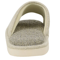 Men's Comfy Classic Linen Cloth Slippers House Mules Anti-Slip