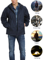iLoveSIA Mens Classic Water Resistant Jacket Hooded Windbreaker - iLoveSIA