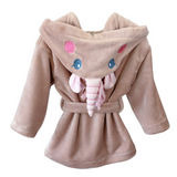 iLoveSIA Kids Unicorn Robe Plush Bathrobe Novelty Hooded Nightgown - iLoveSIA