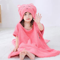 iLoveSIA Bath Towel Cartoon Hooded Coral Velvet Childrens Towel 3PACK - iLoveSIA