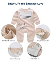 iLoveSIA Kids Rompers Outfit Baby Jumpsuits With Baby Bib blue - iLoveSIA