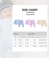 ILoveSIA Newborn Baby Snug-Fit Cotton Clothes Snap Button Clothes Sets - iLoveSIA