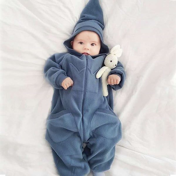 Infant Babys Soft Cartoon Pajamas Cute Magic Hat Onesie Jumpsuit Cosplay Fancy Costumes Romper Pajamas - iLoveSIA