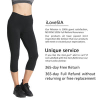 iLoveSIA Women 3/4 Yoga Pants Capri Leggings Sport Pants - iLoveSIA